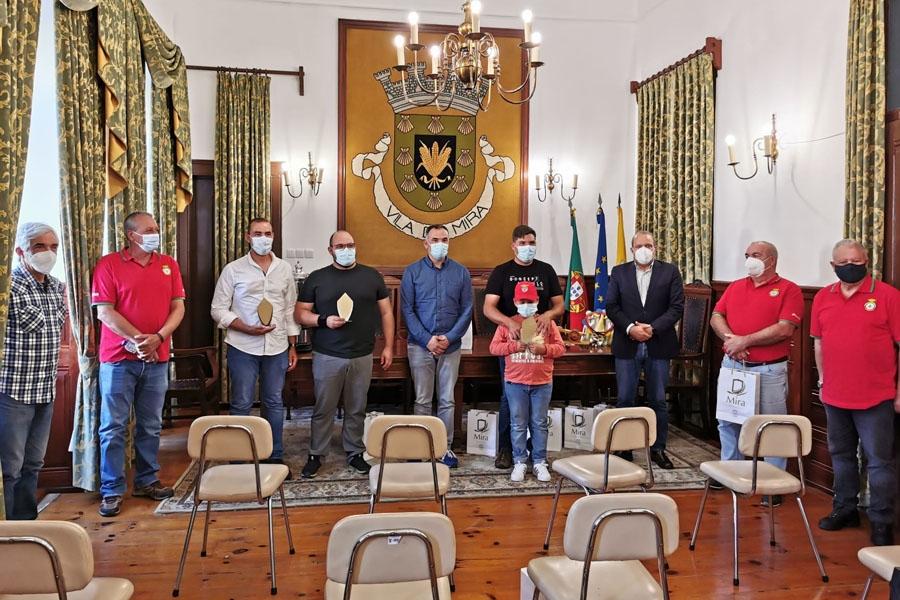 Atletas da Associação de Caçadores recebidos na Câmara de Mira